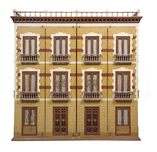 The Spanish Mansion - ca. 1880-1900, nice three story dollhouse with great design and detail. .....Rick Maccione-Dollhouse Builder www.dollhousemansions.com