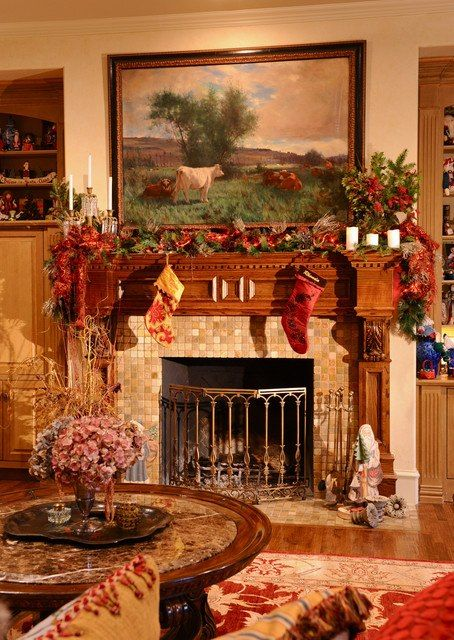 Decoration:Home Design Interior Decorating Ideas With Fancy Living Room  Christmas Mantel Decorating Ideas Christmas Fireplace Living Room Decorating  Ideas ...