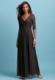 I like the v neck, covered arms & empire waist - the flow/hang of the fabric is pretty
