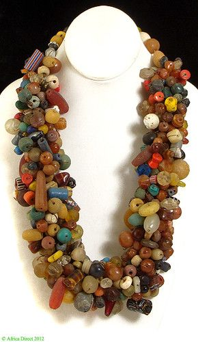 Mauritanian Wedding Necklace Hundreds of Trade Beads Africa I received this as a gift… LOVE IT!