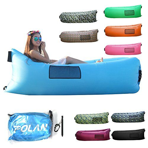 I just used this last weekend  Polan™Fast Inflatable Air Lounger,Waterproof Durable Fabric Lazy Bag for Swimming Pool,Portable Air Sleeping Sofa for Camping Beach Park Backyard follow this link click here http://bridgerguide.com/polanfast-inflatable-air-loungerwaterproof-durable-fabric-lazy-bag-for-swimming-poolportable-air-sleeping-sofa-for-camping-beach-park-backyard/ for much more detail about it. Thanks and please repin if you like it. :)