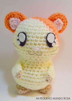 Hamster Hamtaro Amigurumi - Patrón Gratis en Español e Inglés aquí: http://mipequenomundorosa.blogspot.com.es/2015/07/hamtaro-crochet-patron-en-espanol-e.html