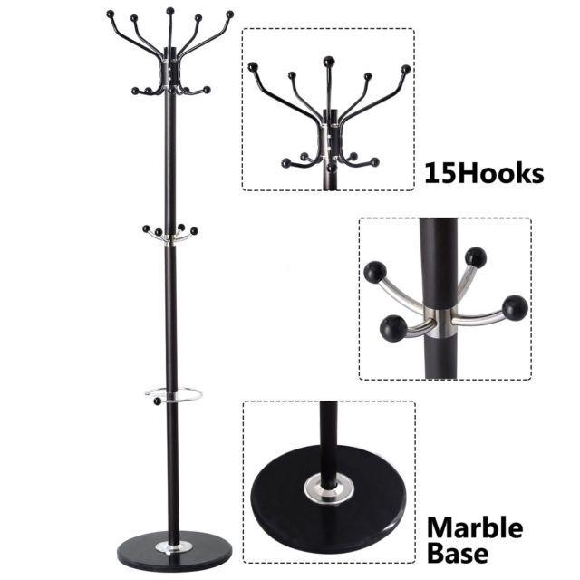 "15/"" Over Door Hanger Metal Hook Hat Clothes Holder Organizer Black//White"