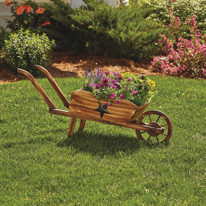 Wooden Wheel Barrels: 25+ Beautiful Wheelbarrow Planter Ideas On Pinterest