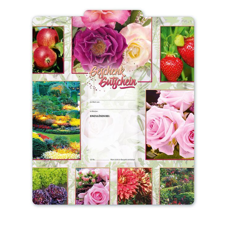Bestell-Nr. BL242, Multicolor-Geschenkgutscheine für Gärtnereien!