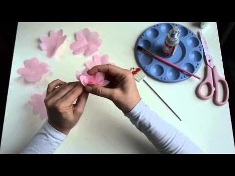 How to make an Easy Wafer Paper Peony with Fabriliquid - YouTube