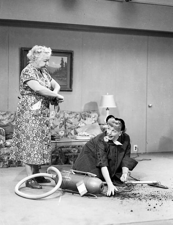 """Lucy: """"I'm sorry; I didn't know your electricity was shut off. I don't know how you're going to clean all of this up."""" Woman: """"I DO."""""""