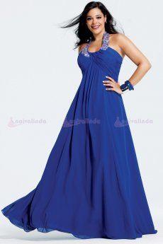 vestidos de festa azul plus size - Pesquisa Google