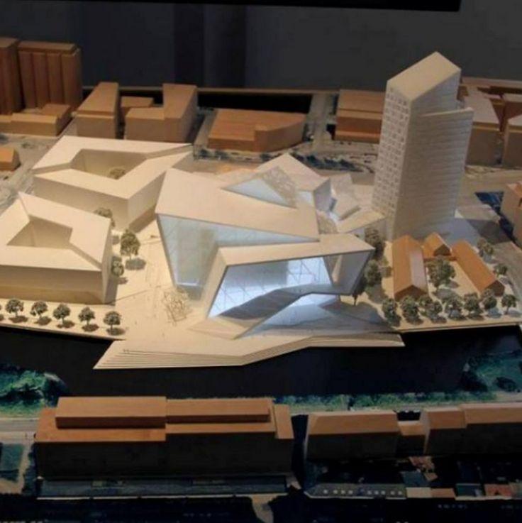 Model of Concert Hall Malmo by Studio Daniel Libeskind