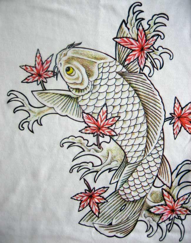 Dragon koi carp tattoo designs 650 827 carp for Japanese koi design