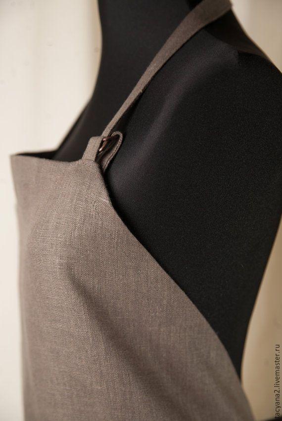 Linen Apron  Купить Льняной фартук и 2 полотенца - оливковый, фартук, передник, одежда из льна, льняной