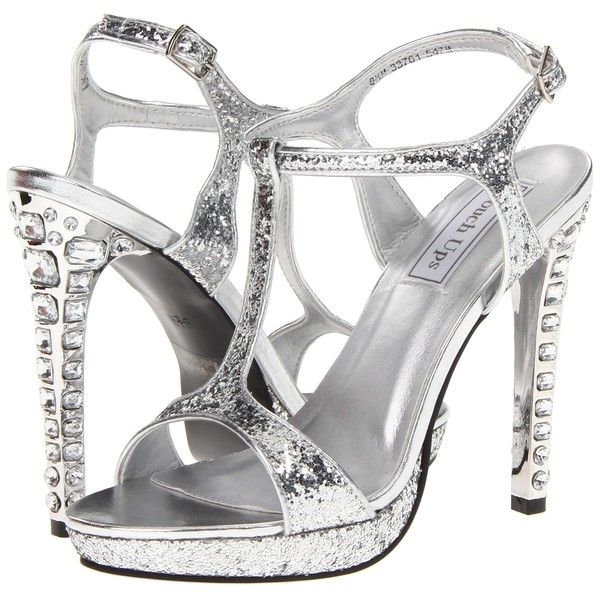 Touch Ups Darcy Women's Dress Sandals, Silver ($33) ❤ liked on Polyvore featuring shoes, sandals, heels, silver, platform shoes, heeled sandals, silver platform shoes, silver heel sandals and silver sandals