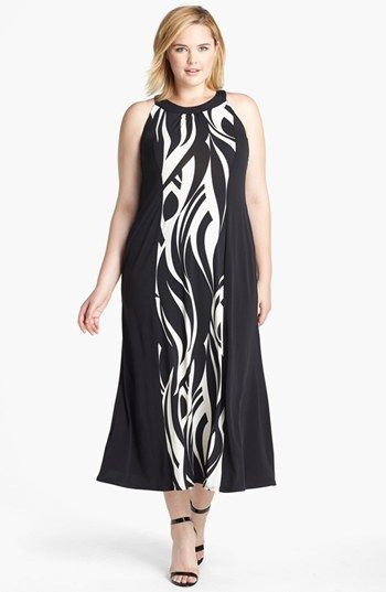 Evans Swirl Print Jersey Dress (Plus Size) available at #Nordstrom. I finally ordered this last night. now looking for my shoe.