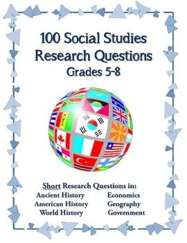 Consider purchasing this bundle of four 25-question assignments that you can use as a set of daily activities, a set of bell ringer assignments, or as a single research assignment. There are 100 questions to use in your classroom. All answers are included.  You will find questions related to Ancient History, American History, World History, World Geography, Economics, Government, and more! It is NEVER too early to teach students how to conduct research.