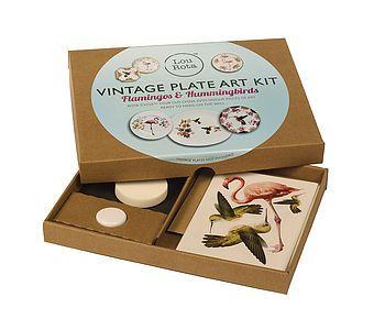 Vintage Plate Art Craft Kit