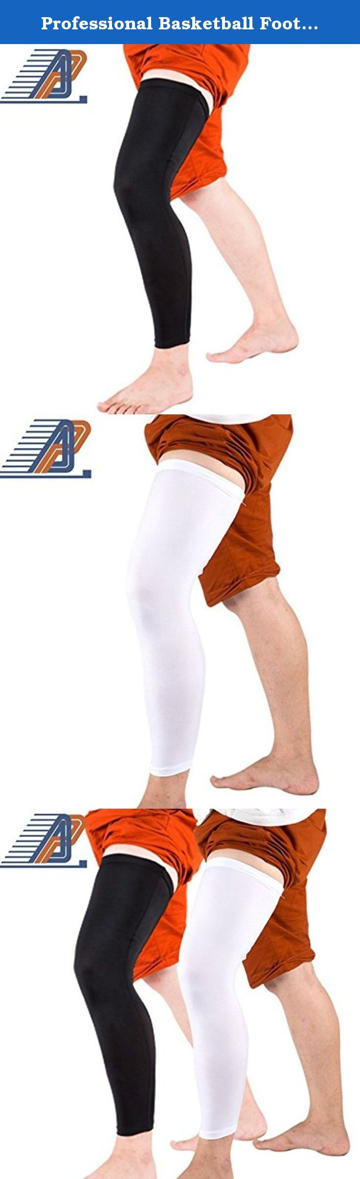 Professional Basketball Football Shin Guard Leg Compression Sleeve for Women Men (XL). Size M:length 51 cm,fit for weight bellow 62 kg; Size L:length 52 cm,fit for weight 62-72 kg; Size XL:length 53 cm,fit for weight above 72 kg;.