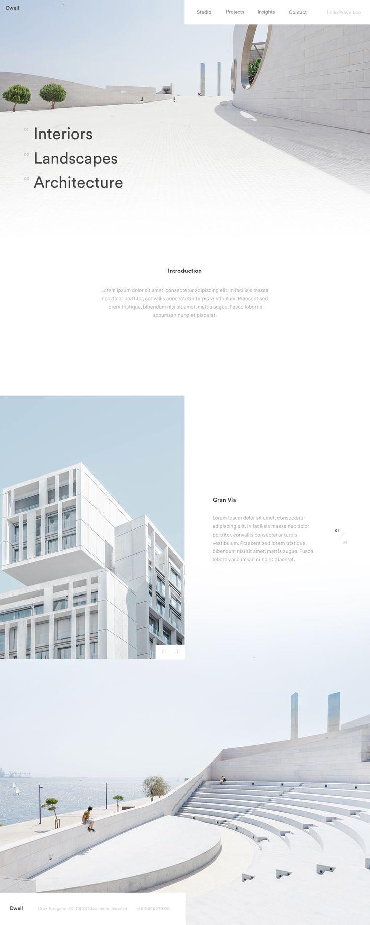 Best 25 portfolio website ideas on pinterest ux design for Minimal architettura