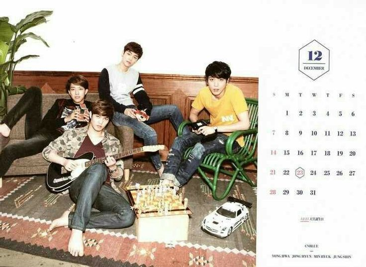 CNBLUE Calendar 2014 December