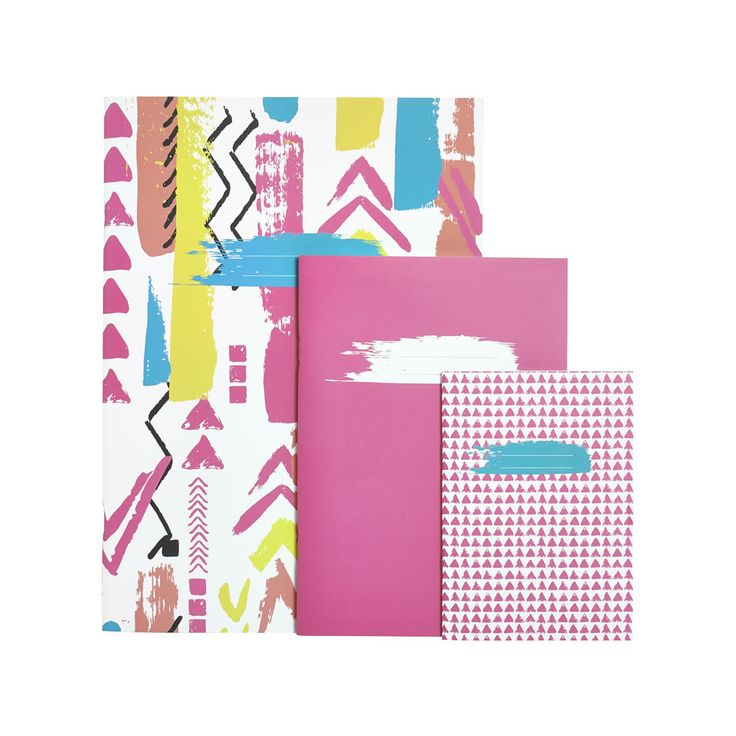 Wilko Tribes Exercise Bk Pk3 Asstd Sizes #Tribe #Tribes #colour #neon #stationery #pencilcase #pencil #pencils #pen #pens #notebook #pad #kids #school #schoolwork #classroom #children
