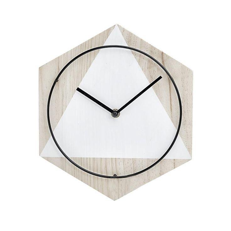 Ρολόι Τοίχου Ξύλινο Natural-Λευκό INART