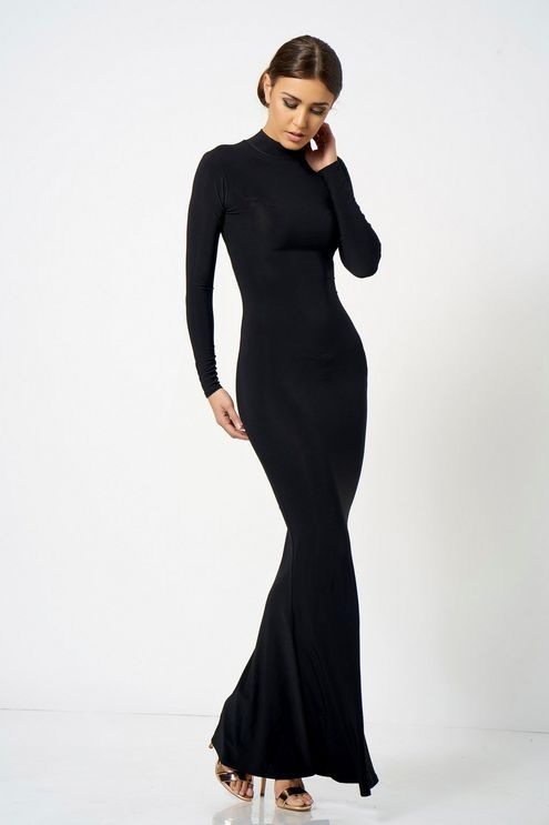 43825e7cf7 **High Neck Long Sleeve Maxi Dress by Club L - Brands at Topshop - Clothing  - Topshop