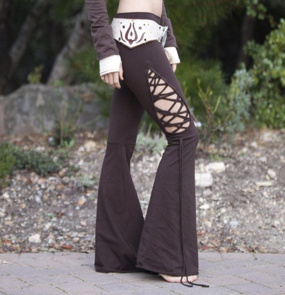 Stained Glass Teardrop Dance Pants  in Brown by ElvenForest, $97.00