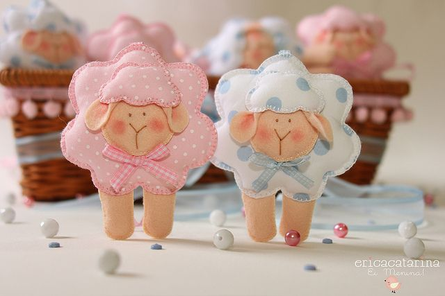 ovelhas de feltro