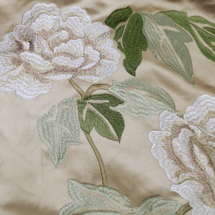 2016 Chinese Style Floral Embroidery Silk Like Curtain Sofa Chair Upholstery Fabric 140cm Width sell by meter-in Fabric from Home & Garden on Aliexpress.com | Alibaba Group