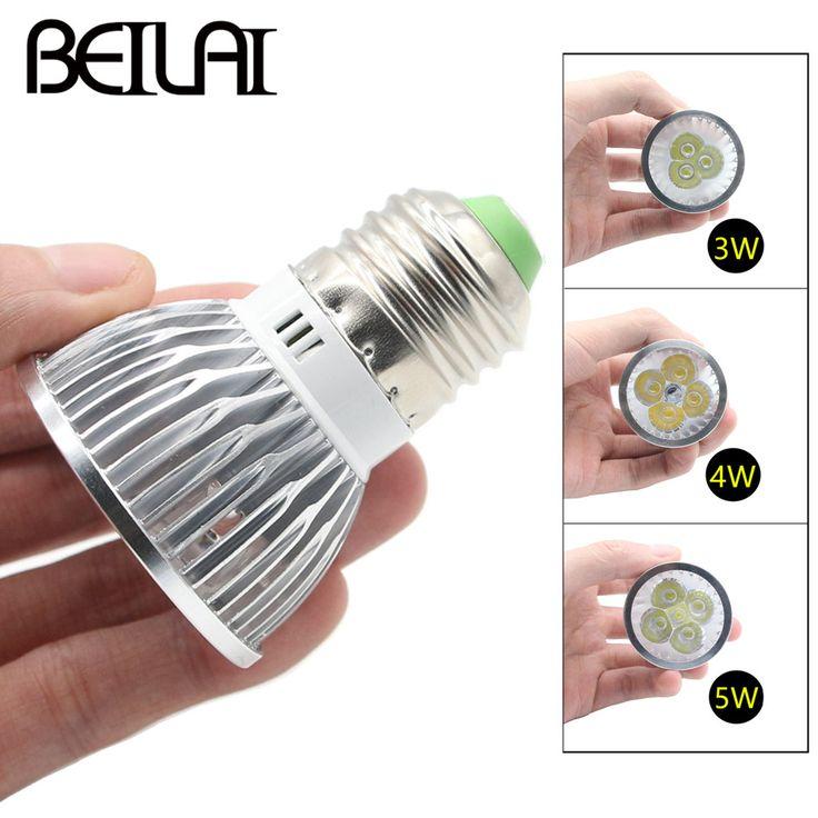 BEIYUN 10PCS Lampada LED Lamp E27 220V 110V 3W 4W 5W Dimmable LED Spotlight 85-265V Aluminum Bombillas LED Bulbs Chandelier Luz #Affiliate