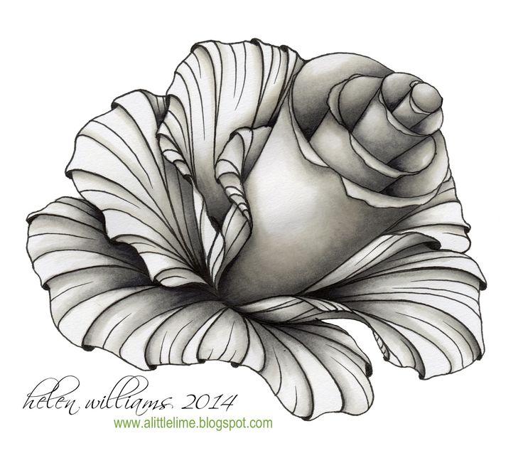a little lime: aquafleur rose