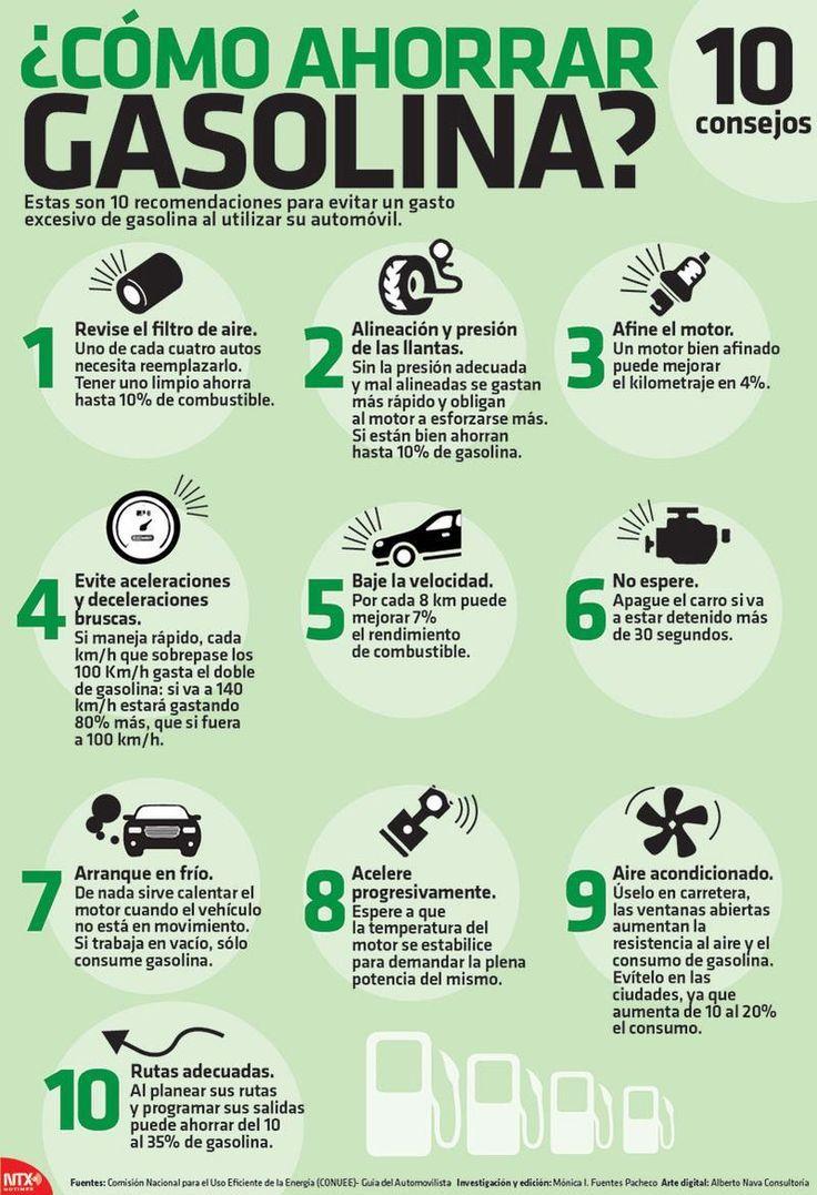 M Les dejamos 10 recomendaciones para evitar un gasto excesivo de gasolina al utilizar el automóvil.