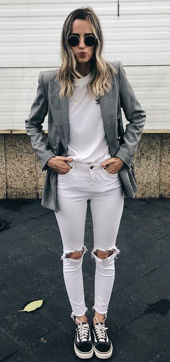d1df9c788e 7 ideias de looks para esta semana. Blazer cinza