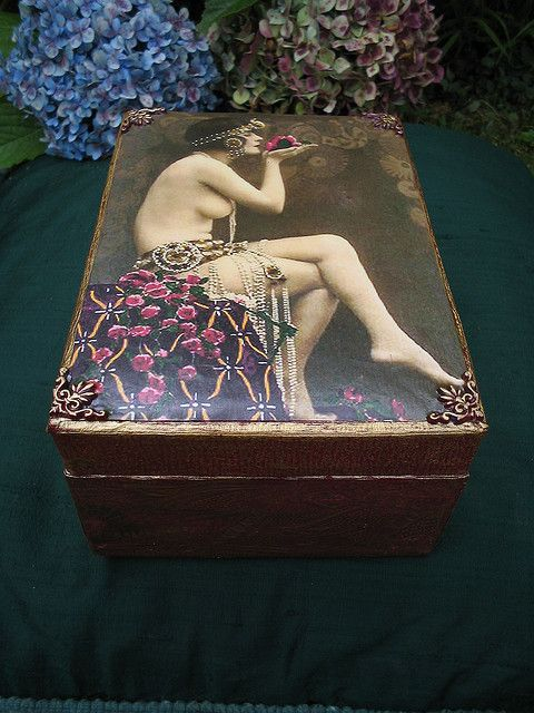 Decoupaged and Handpainted boxes