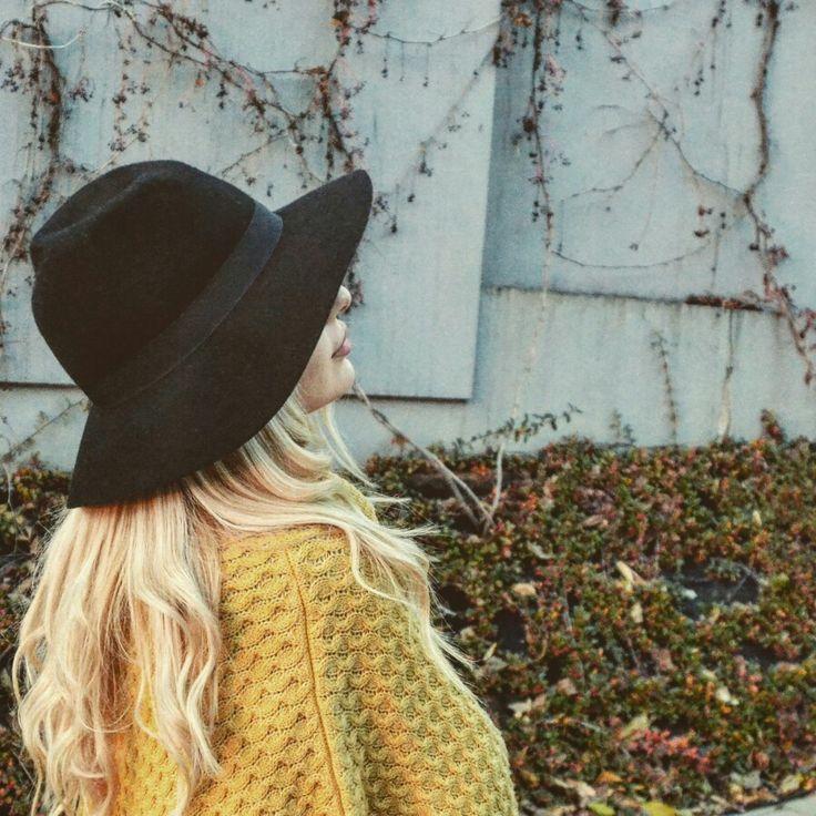 #hat #autumn #yellowponcho