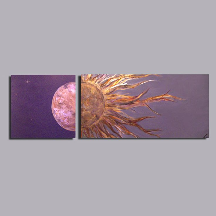 Very Large Sun and Moon Custom Painting Set. $375.00, via Etsy.