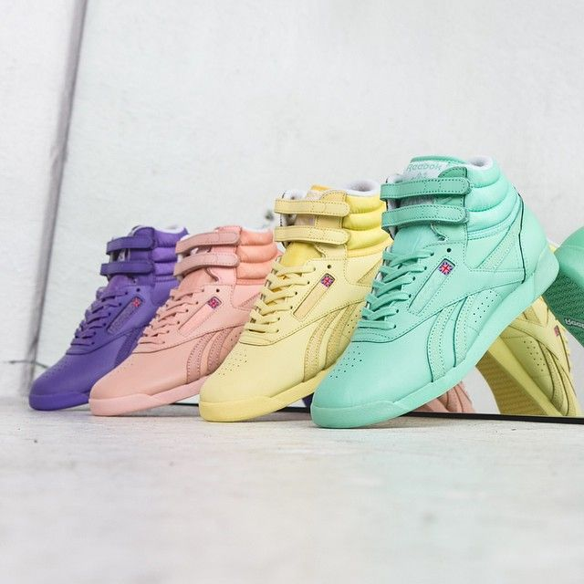 The classic Reebok Freestyle Hi Spirit are now available in these 4 good looking colorways. #reebok
