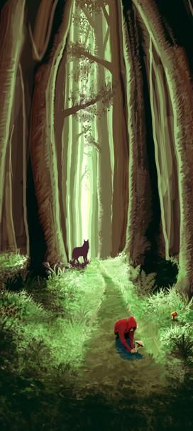 ♥ caperucita roja + lobo feroz !
