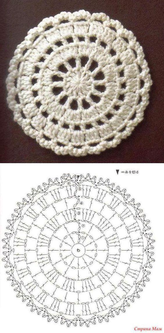 Hermosa coleccion en Patrones de carpetas a crochet, para la ...