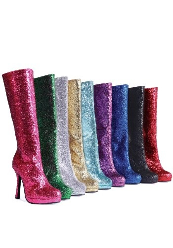 $30.55 - $87.74 ~ Ellie Shoes Glitter Adult Boots great for Super Heroes and Disco #costuming
