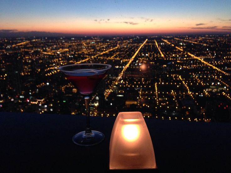 The most romantic meal in Chicago - atop the John Hancock tower