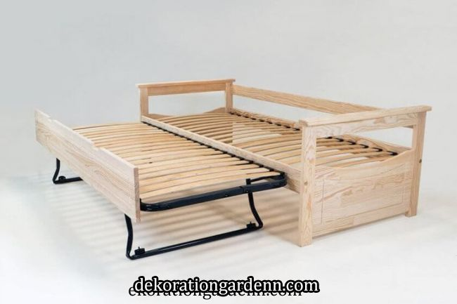 Pull Out Bed Topaze Solid Pine Bed Pine Pullout Solid Topaze Vanli Bed Pine Pullout Solid In 2020 Sofa Bed With Storage Toddler Room Decor Bunk Bed Designs
