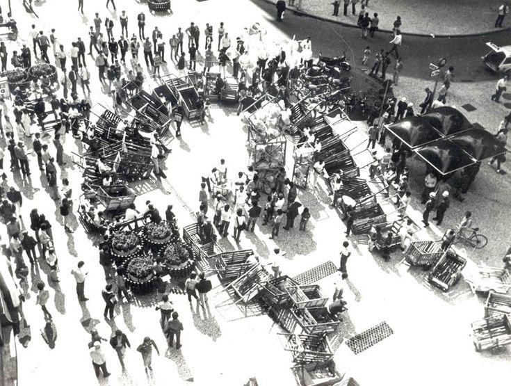 31 de março de 1964 - Grupo Sensibilizar. Boca Maldita, Curitiba.