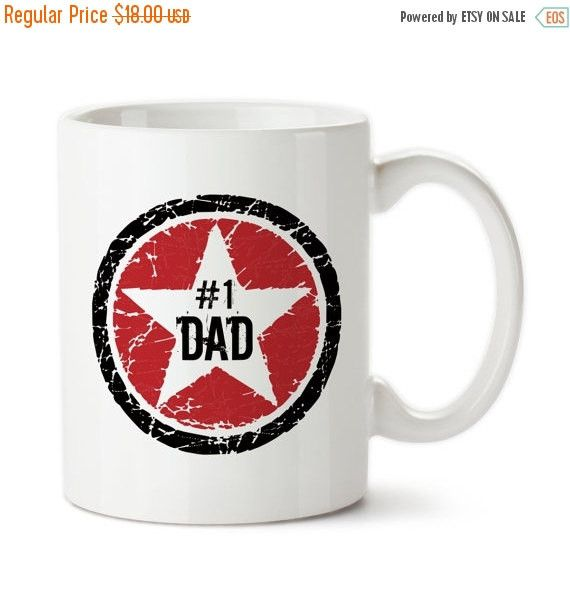 Coffee Mug, Red Black Rock Star #1 Dad, Number 1 Dad, Best Dad, Awesome Dad, Father's Day, Birthday Gift For Dad