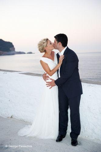 Wedding on Skopelos Island by daphneweddings.com