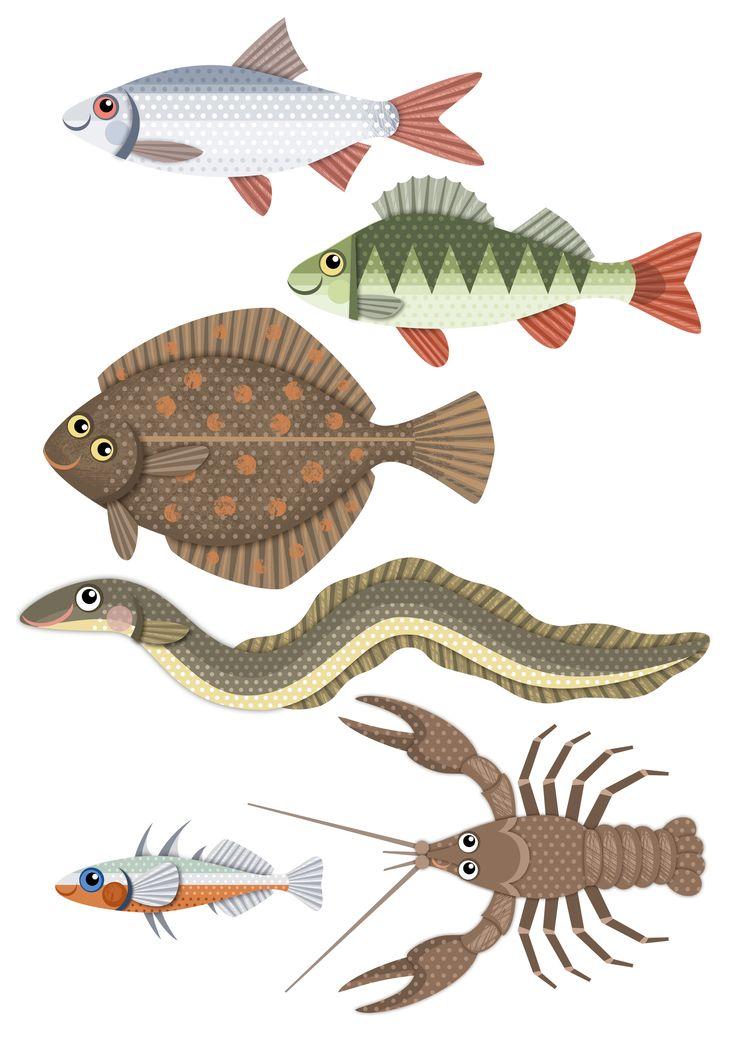 Pikku Kakkosen tulostettavia papereita  | kalat |  lasten | askartelu |  kesä…