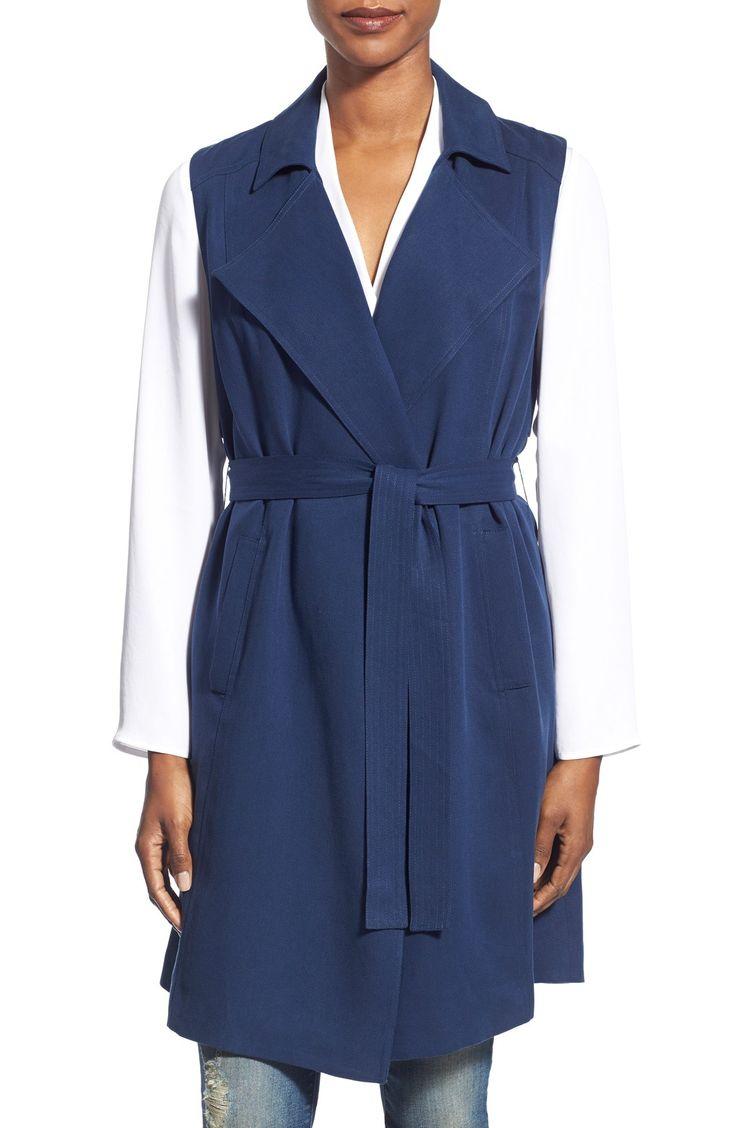 Halogen® Sleeveless Trench Coat (Regular & Petite)