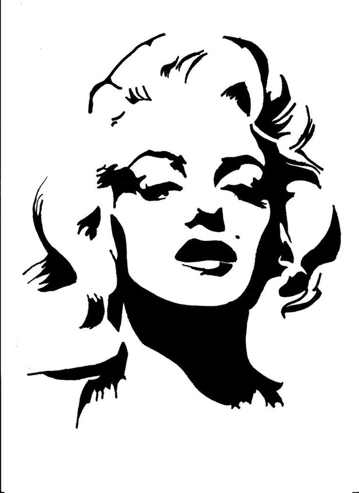 17+ best ideas about Marilyn Monroe Drawing on Pinterest ... Marilyn Monroe Face Stencil