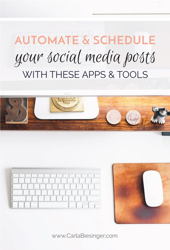 Need help implementing your social media marketing strategy? Whether it's Instagram, Twitter, Pinterest, or Facebook, these social media apps and tools will help you schedule and automate your posts so that you can focus on your business and let your social media calendar do the rest for you. Click through or save for later!