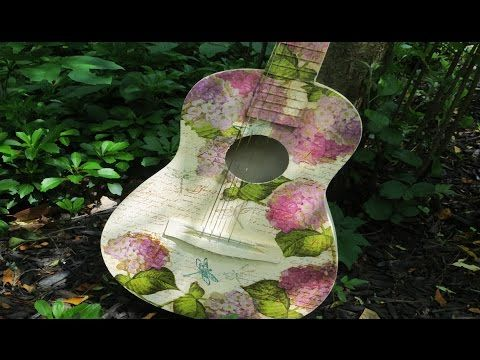 How To Decoupage a Guitar - YouTube
