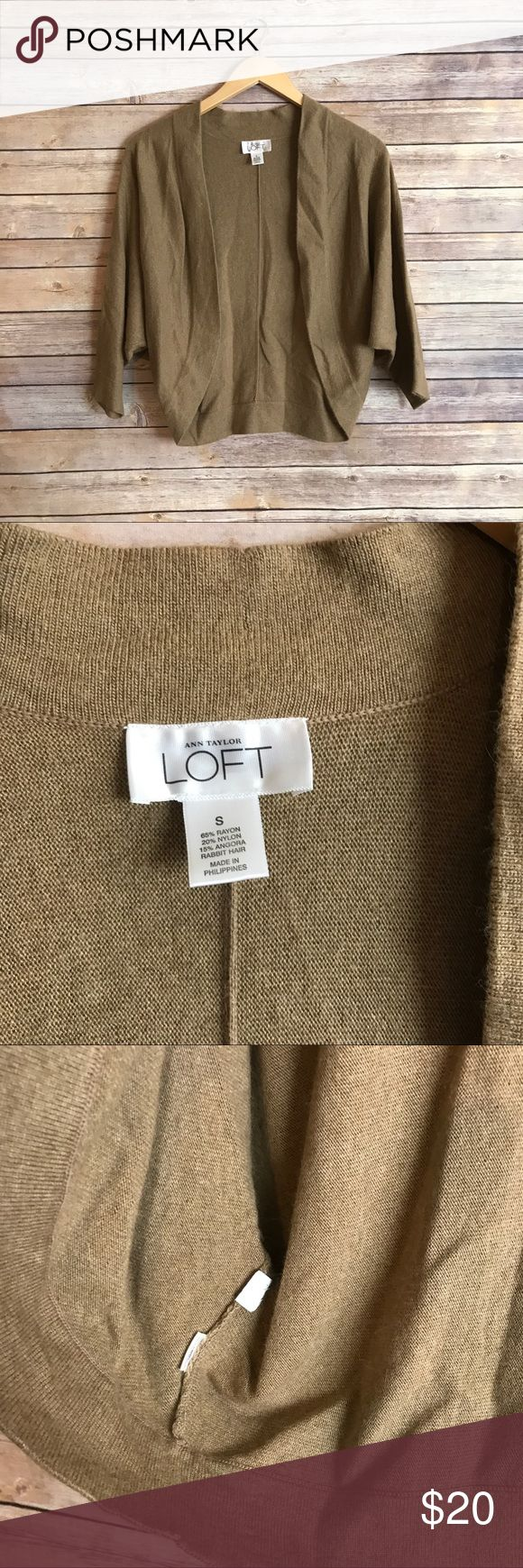LOFT batwing cardigan Size small. In excellent condition! Super soft! Great to wear over a blouse for work! ** no modeling or trades! LOFT Sweaters Cardigans
